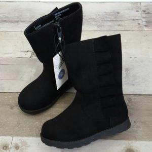 Cat & Jack Girls' Ruffle Faux Suede Reva Boots